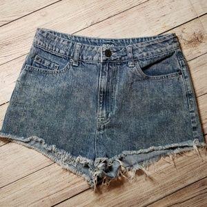 BDG High Waste Acid Wash Cutt Off Shorts